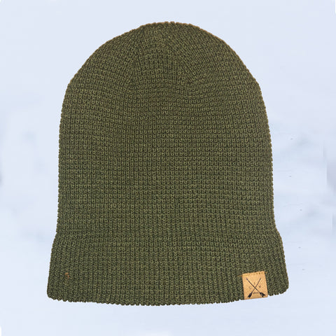 Forest Waffle Knit Beanie