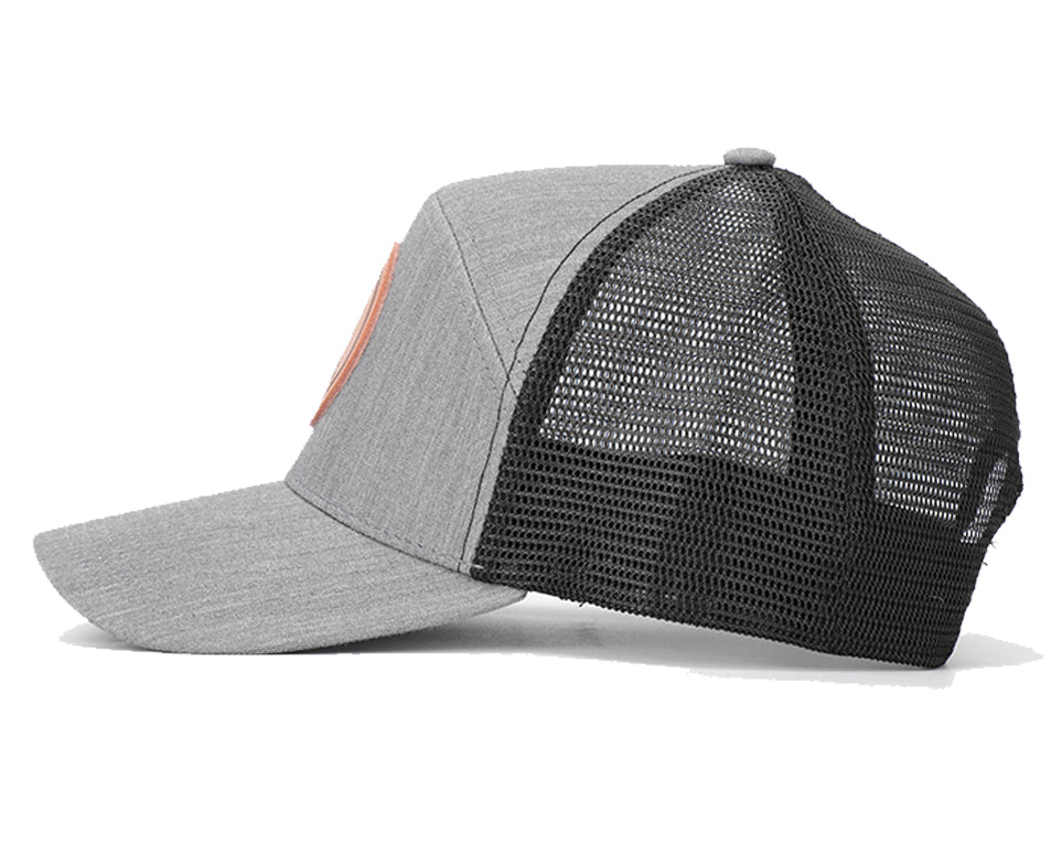 Grey & Black Mesh Arrow Snapback