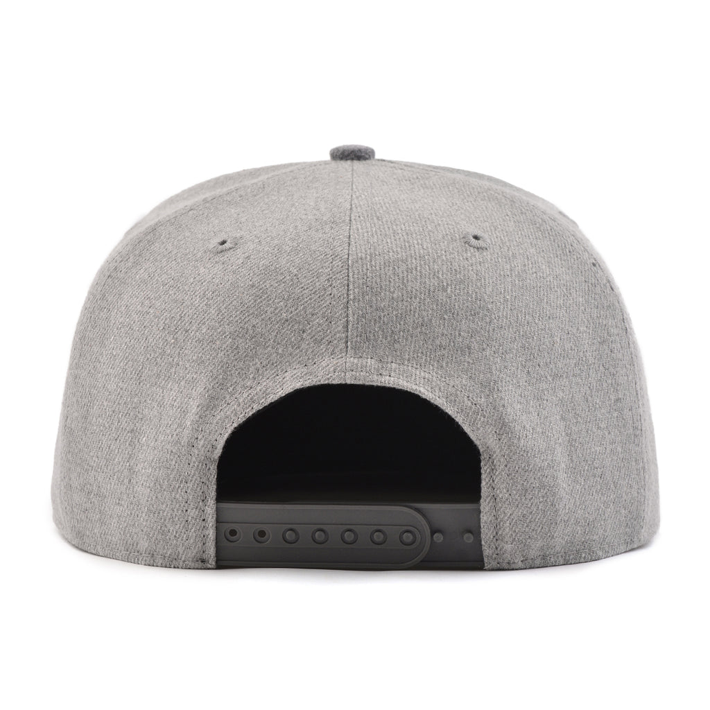 Grey Two Tone Signature Snapback Hat
