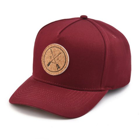 The Burgundy Arrow Snapback