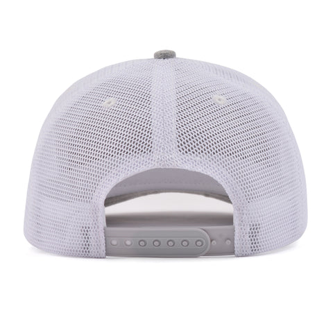 The White Mesh Arrow Snapback
