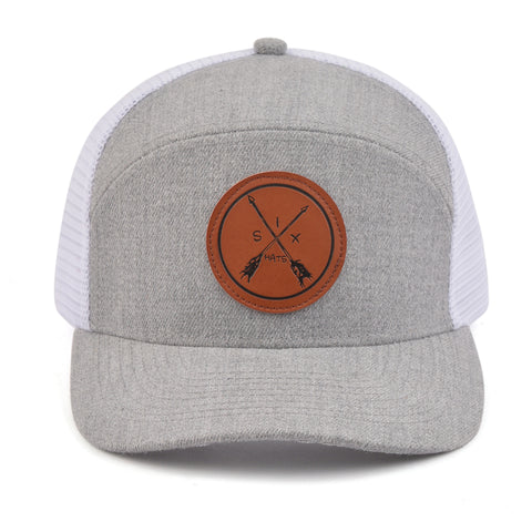Image of The White Mesh Arrow Snapback