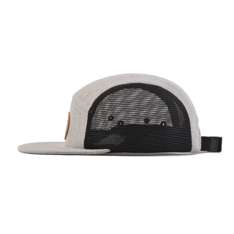 Grey Mesh Arrow 5-Panel Snapback