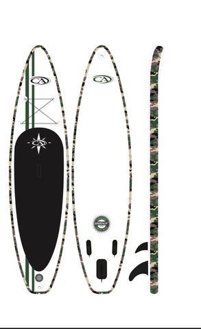 CA 11' Premium Inflatable travel sup package touring paddleboard pkg