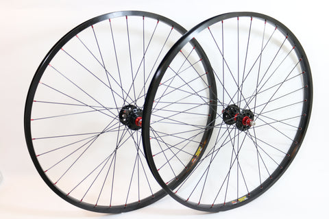"Wheelset - Technique Hub & Sun Rim (26"") Black Spokes, All rims build when they ordered"
