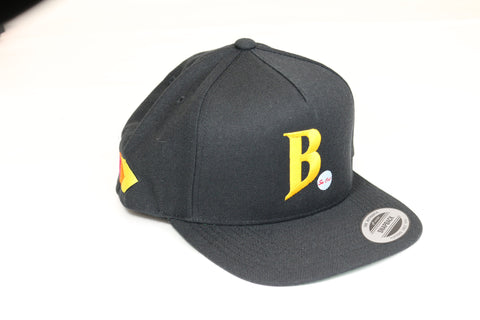 """B"" Embroidered Snap Back Hat"