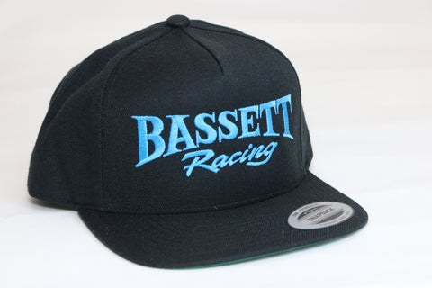 Bassett Racing Embroidered Snapback Hat