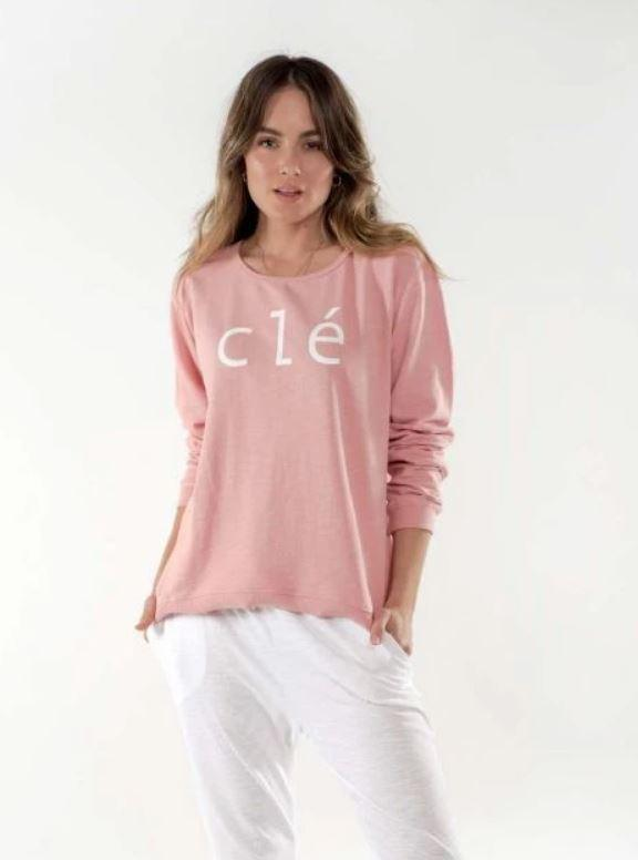 LUCY LOGO SWEATER - ROSE