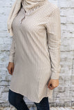 Gray Pinstripe Tunic - Diamonds in the Rough Fashion
