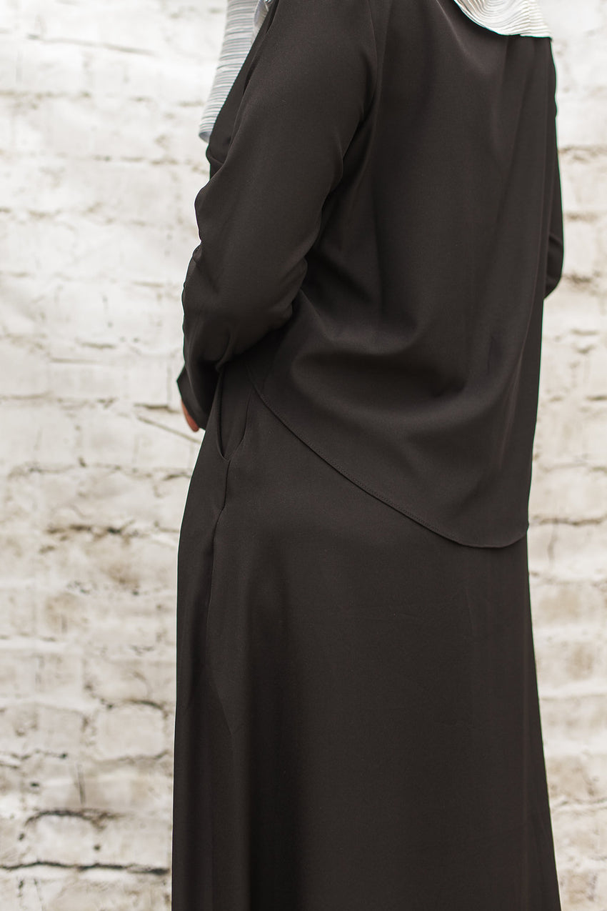 Black Maxi with Buttons