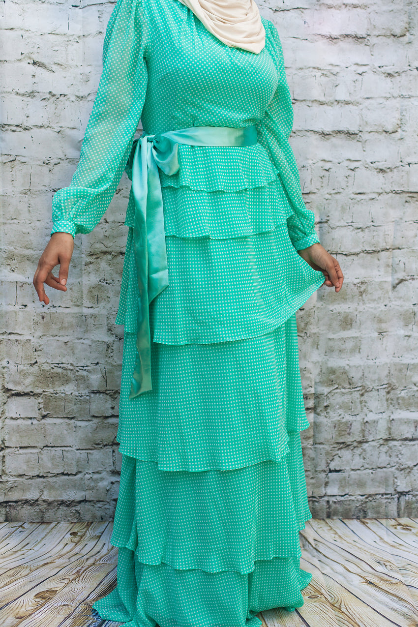 The Ruffled Mint Dress - Diamonds in the Rough Fashion