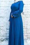 Vintage Pearl Ocean Blue Maxi-Petite - Diamonds in the Rough Fashion