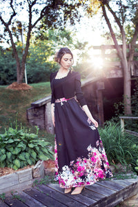 Black Floral Skirt - Diamonds in the Rough Fashion