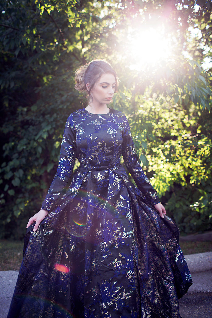 Embroidered two-piece Gown
