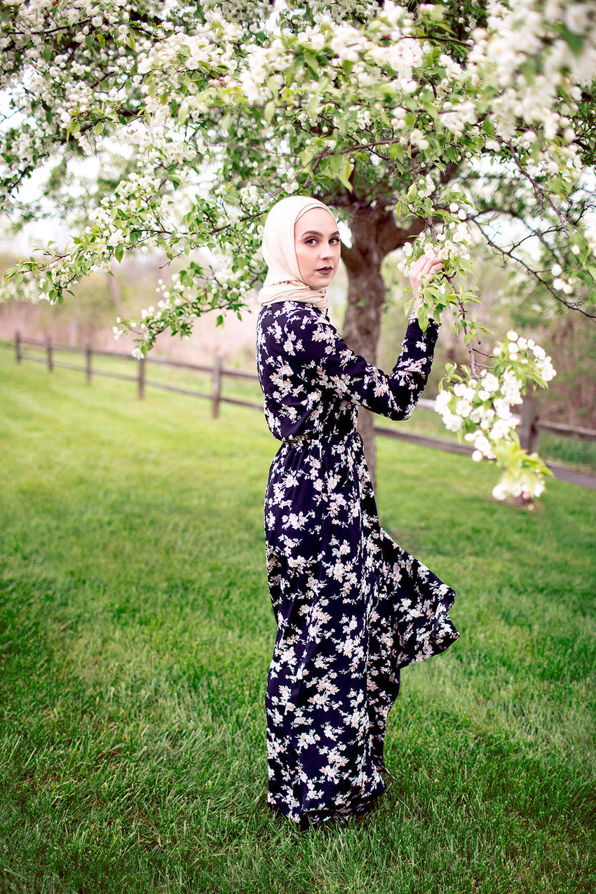 Cherry Blossom Button down Maxi