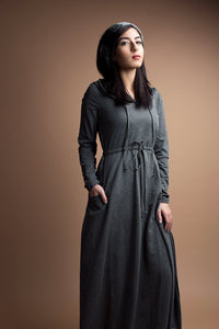 Gray Sports Midi Tunic Dress - Diamonds in the Rough Fashion