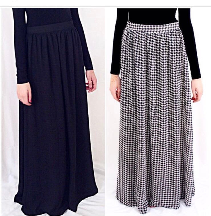Houndstooth Reversable Maxi