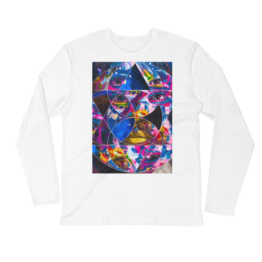 The Artsiest Most Comfortable Long Sleeve Fitted Crew