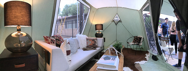 Interior tent design by our friends at City Home Collective