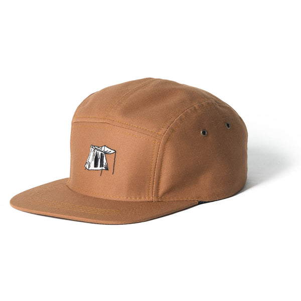 Springbar 5-panel camp hat tan color
