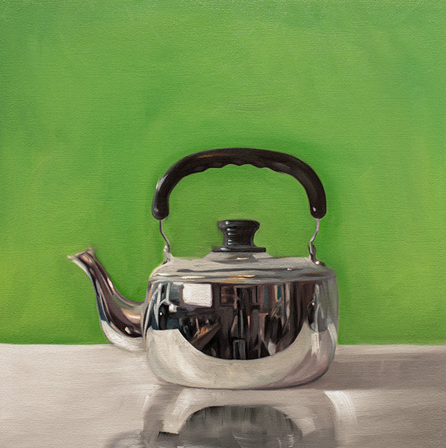 Tea Kettle on Electric Green