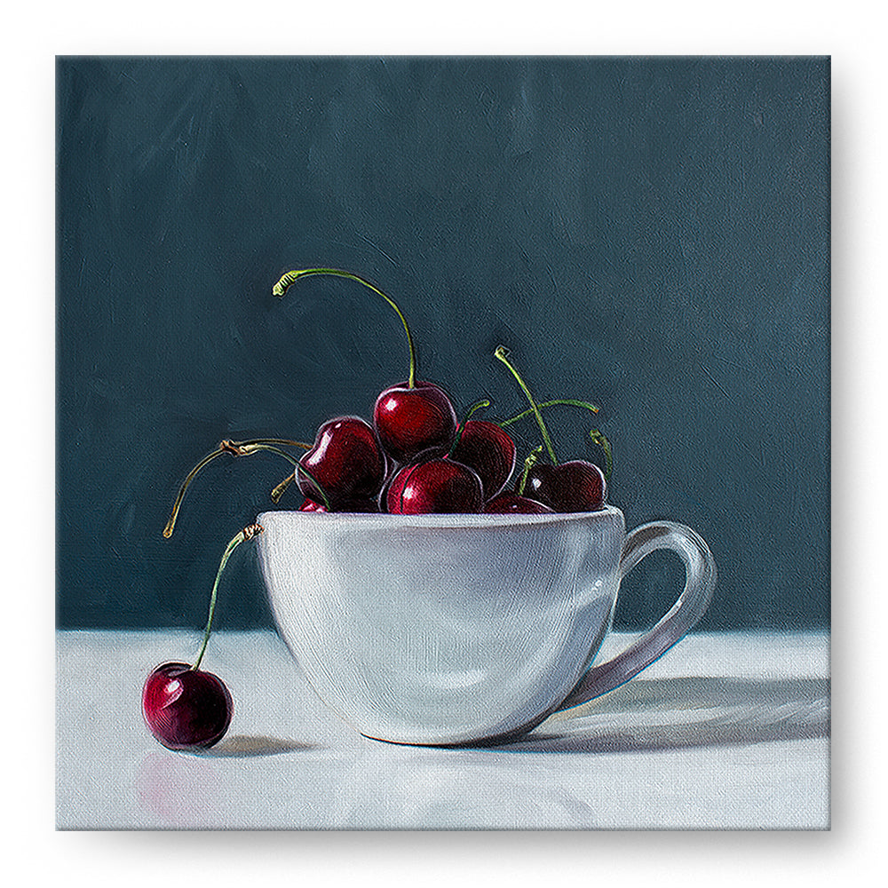 Man Overboard Cherry and Coffee Cup Oil Painting