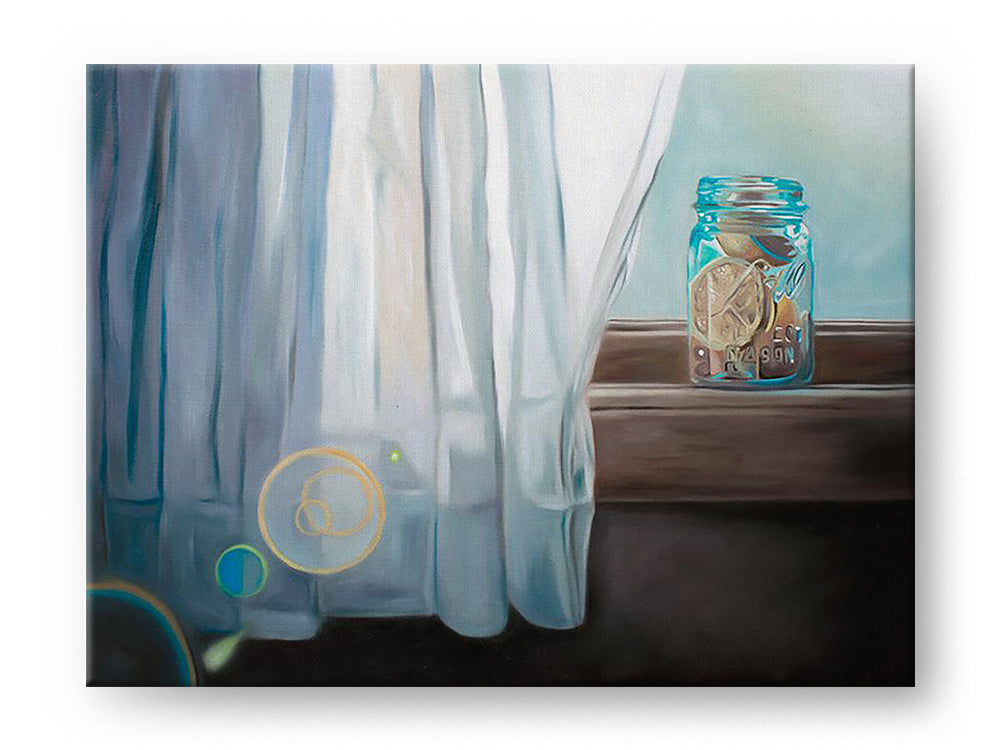 Lemonade on the Window Sill Gallery Mounted Canvas Fine Art Print - Whimsical Wild Artwork