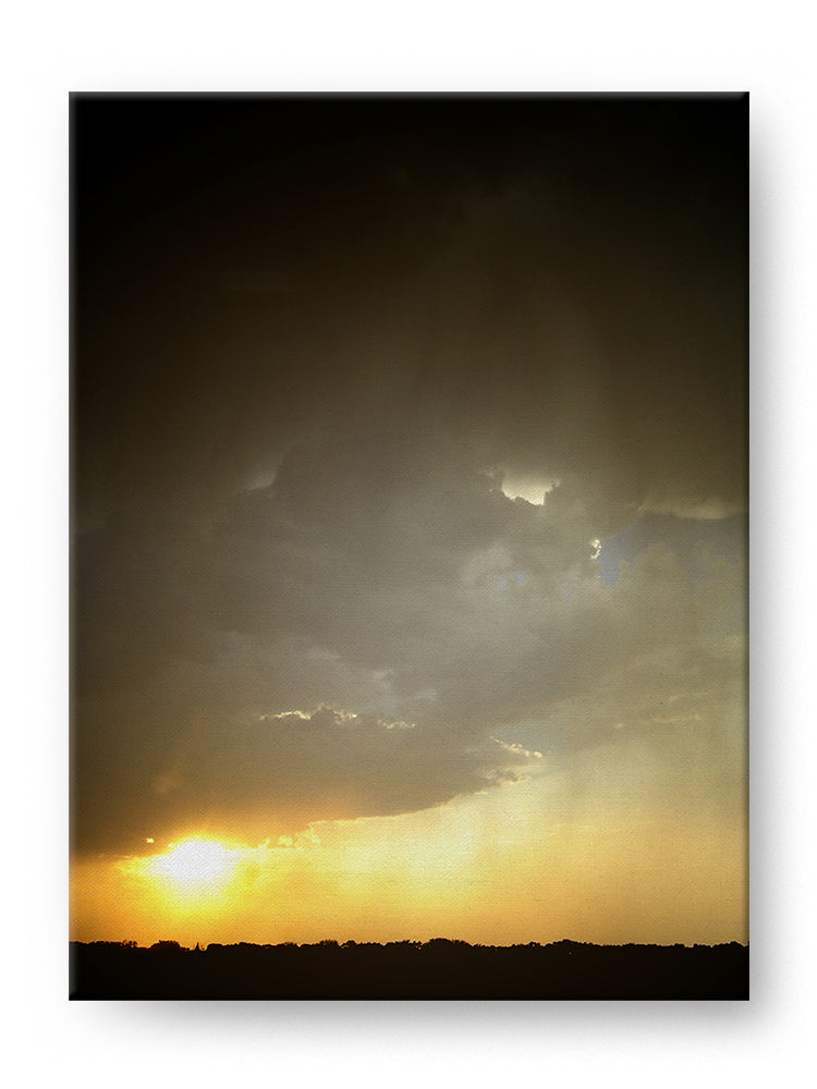 Rainy Sunset Gallery Mounted Canvas Landscape Photo Print