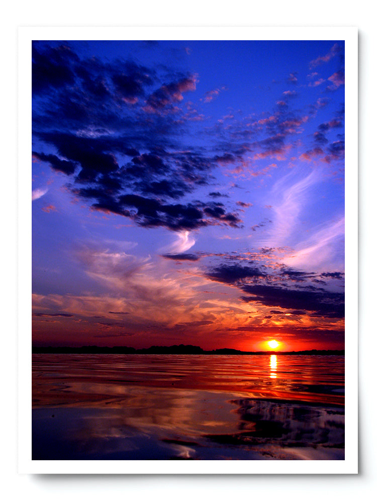 Colorful Setting Sun Landscape Photo Print - Whimsical Wild Artwork