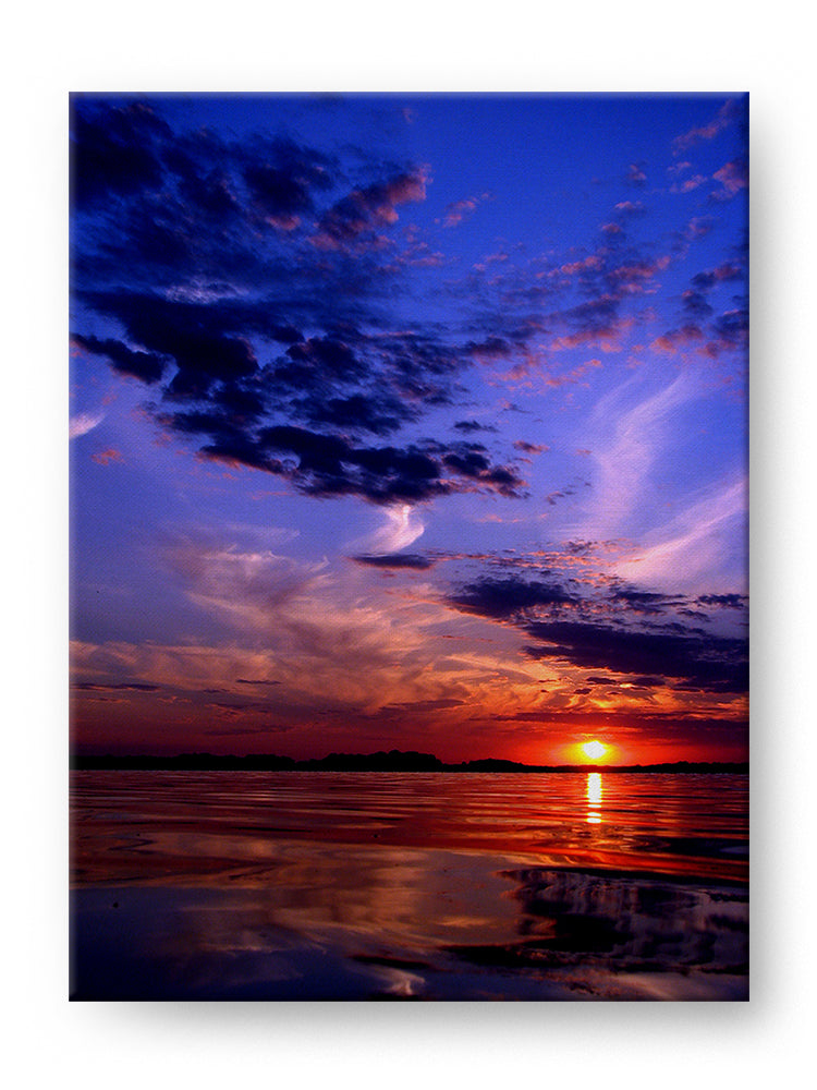 Colorful Sunset Gallery Mounted Canvas Landscape Photo Print - Whimsical Wild Artwork