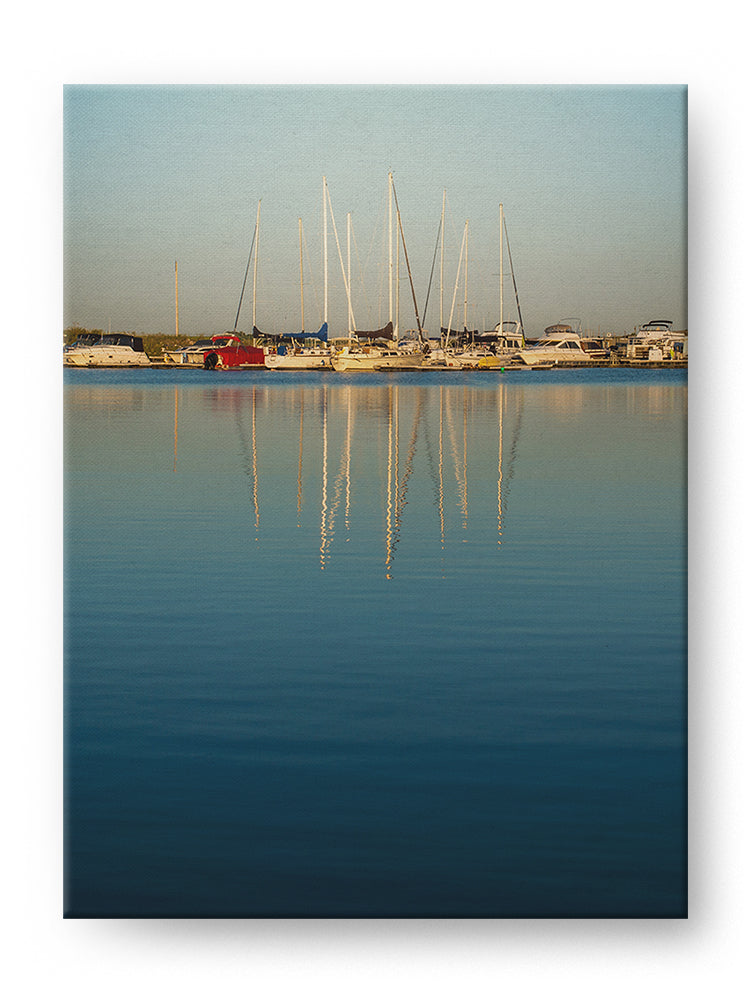 Sailboats at Sunset Gallery Mounted Canvas Landscape Photo Print