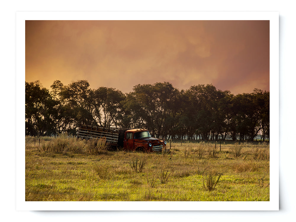 Vintage Country Pickup Truck Landscape Photo Print