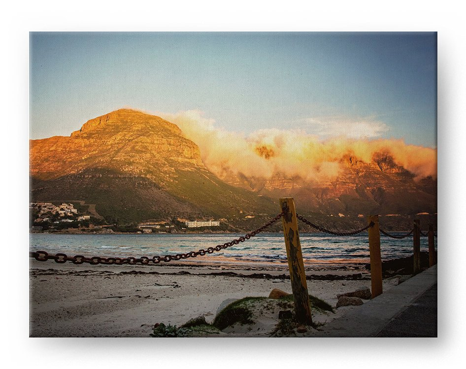 Seascape Sunset Gallery Mounted Canvas Landscape Photo Print