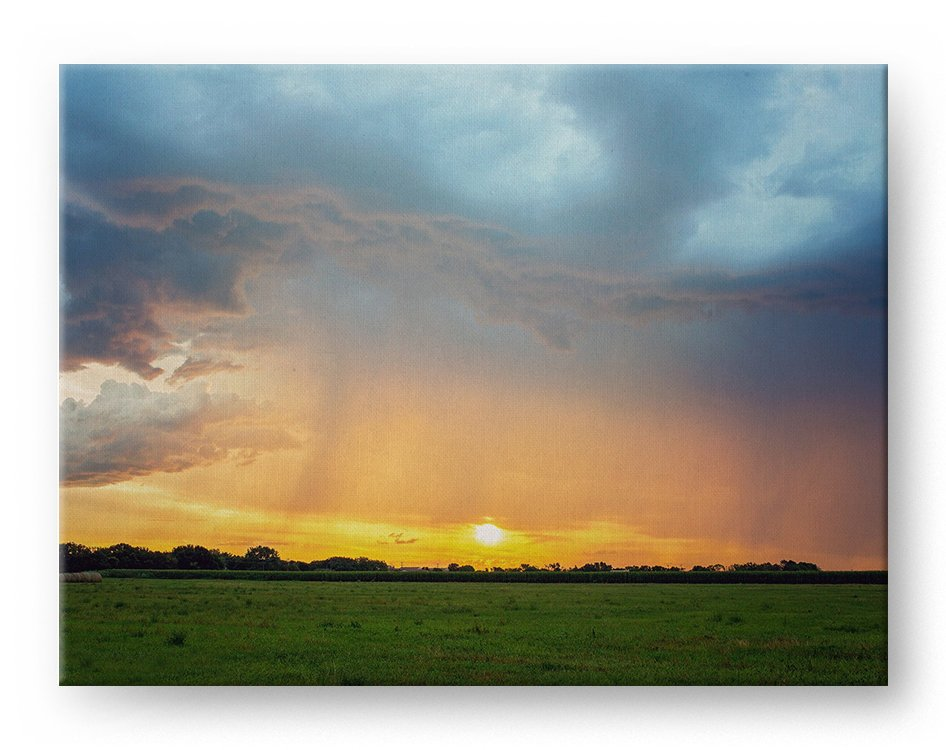 Stormy Sunset Gallery Mounted Canvas Landscape Photo Print