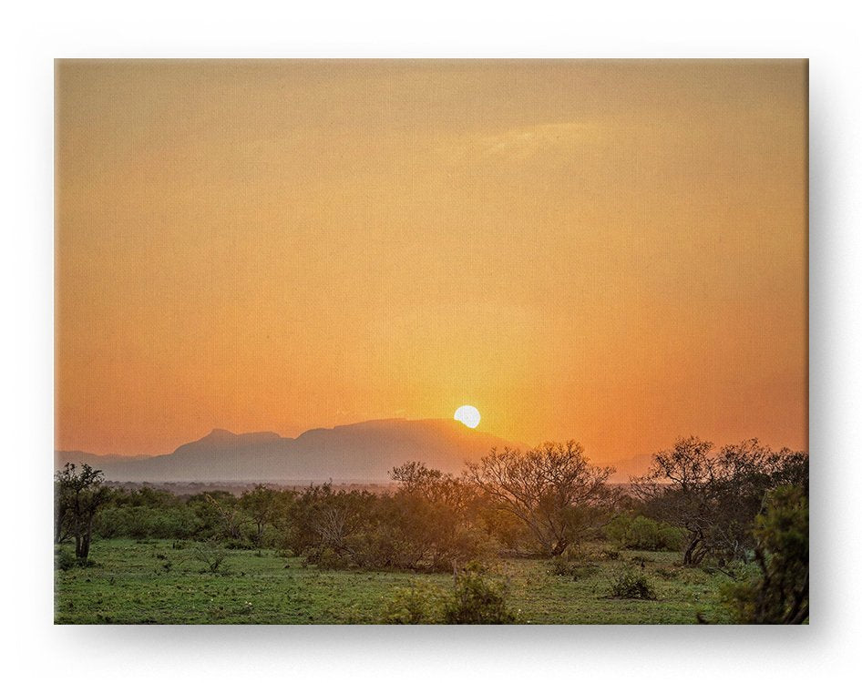 Drakensberg Mountain Sunset Gallery Mounted Canvas Landscape Photo Print - Whimsical Wild Artwork