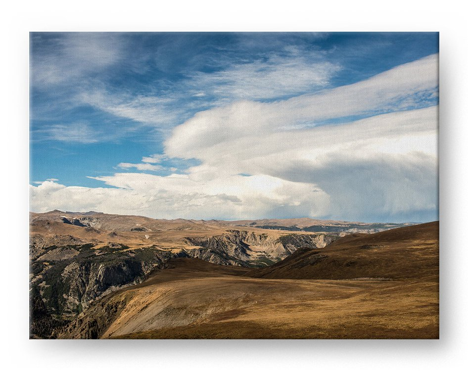 Yellowstone Mountains Gallery Mounted Canvas Landscape Photo Print