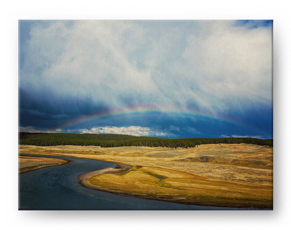 Rainbow River Gallery Mounted Canvas Landscape Photo Print