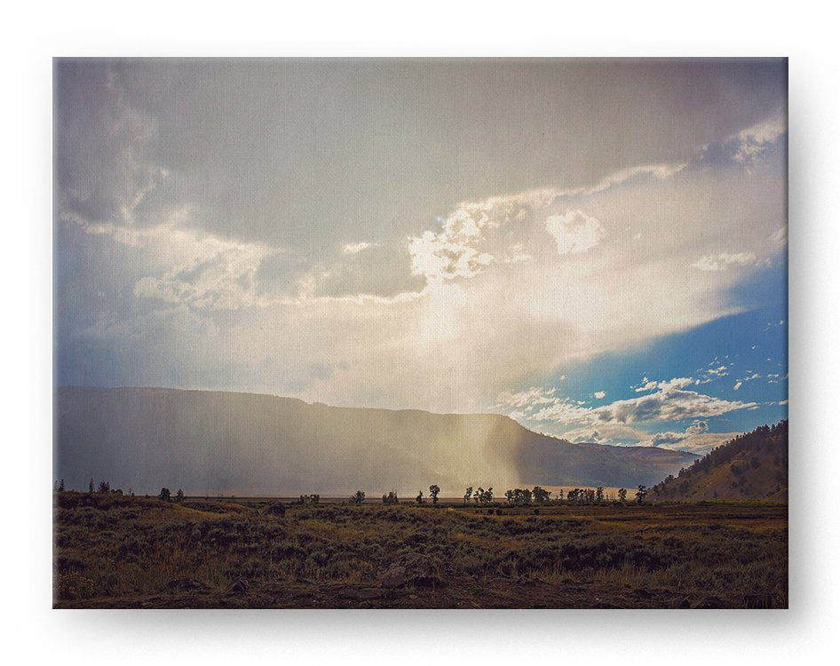 Rainy Mountains Gallery Mounted Canvas Landscape Photo Print