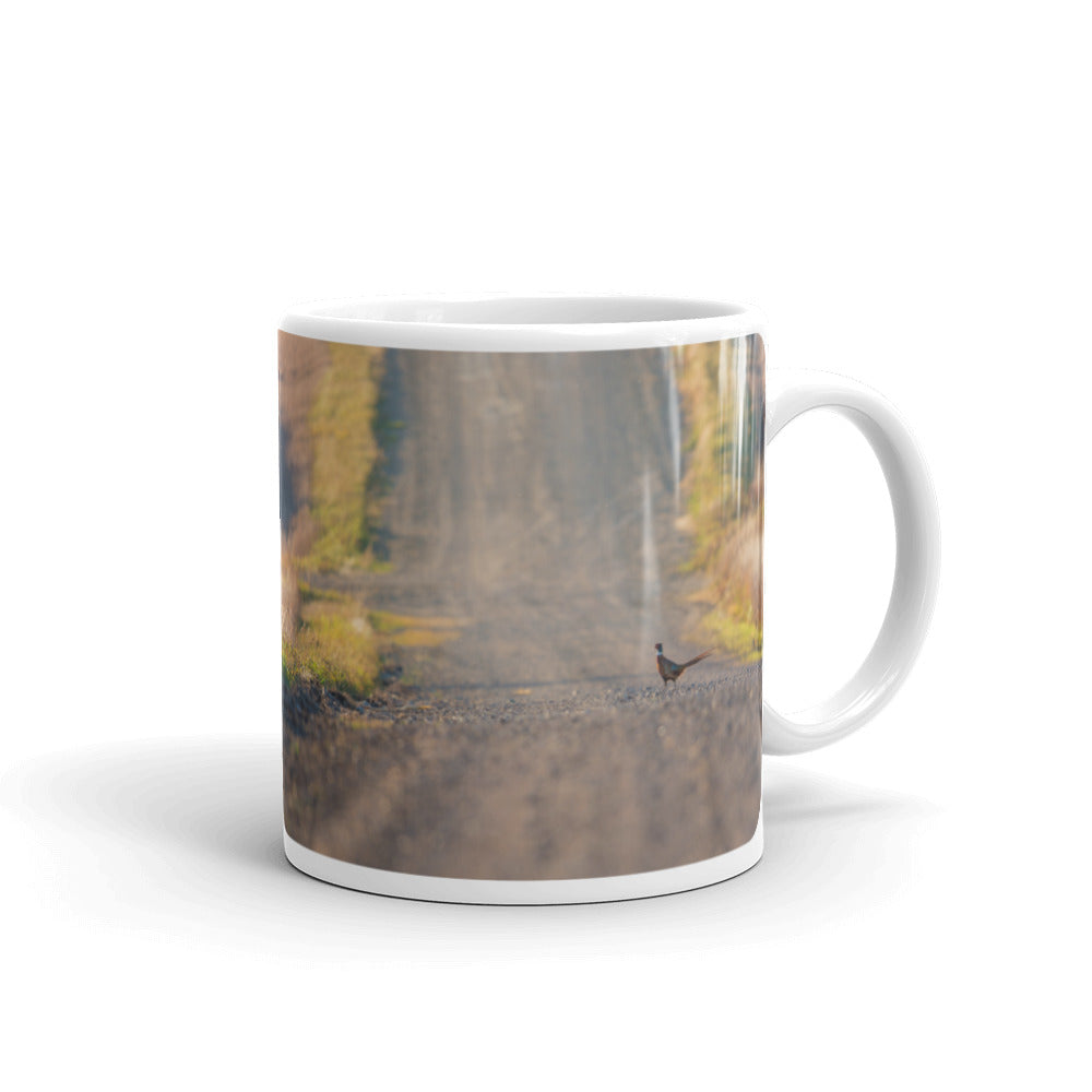 Pheasant and Road Photo Coffee Mug
