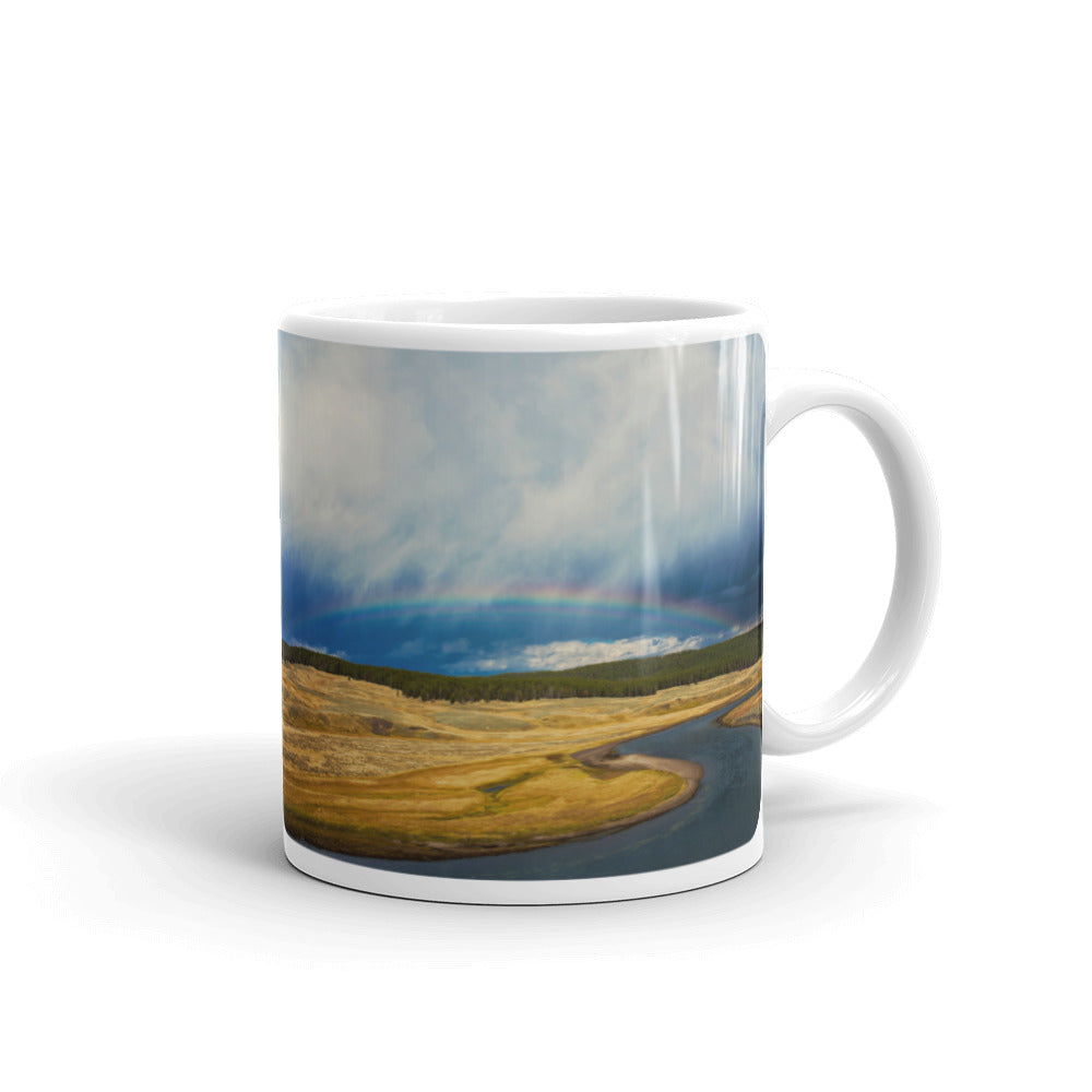 Yellowstone Rainbow River Photo Coffee Mug