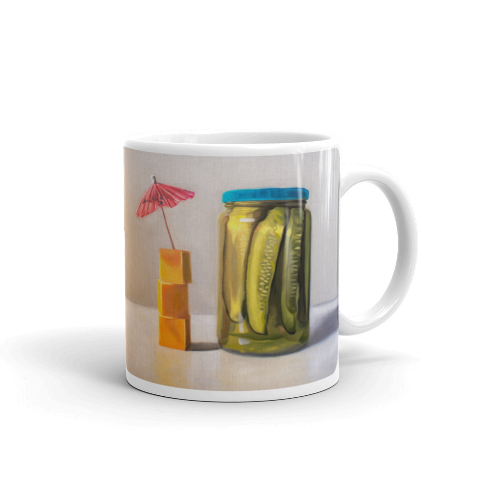 Pickles and Cheese Painting Coffee Mug