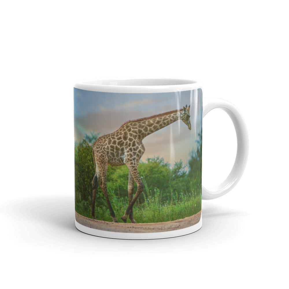 Strolling Giraffe Photo Coffee Mug