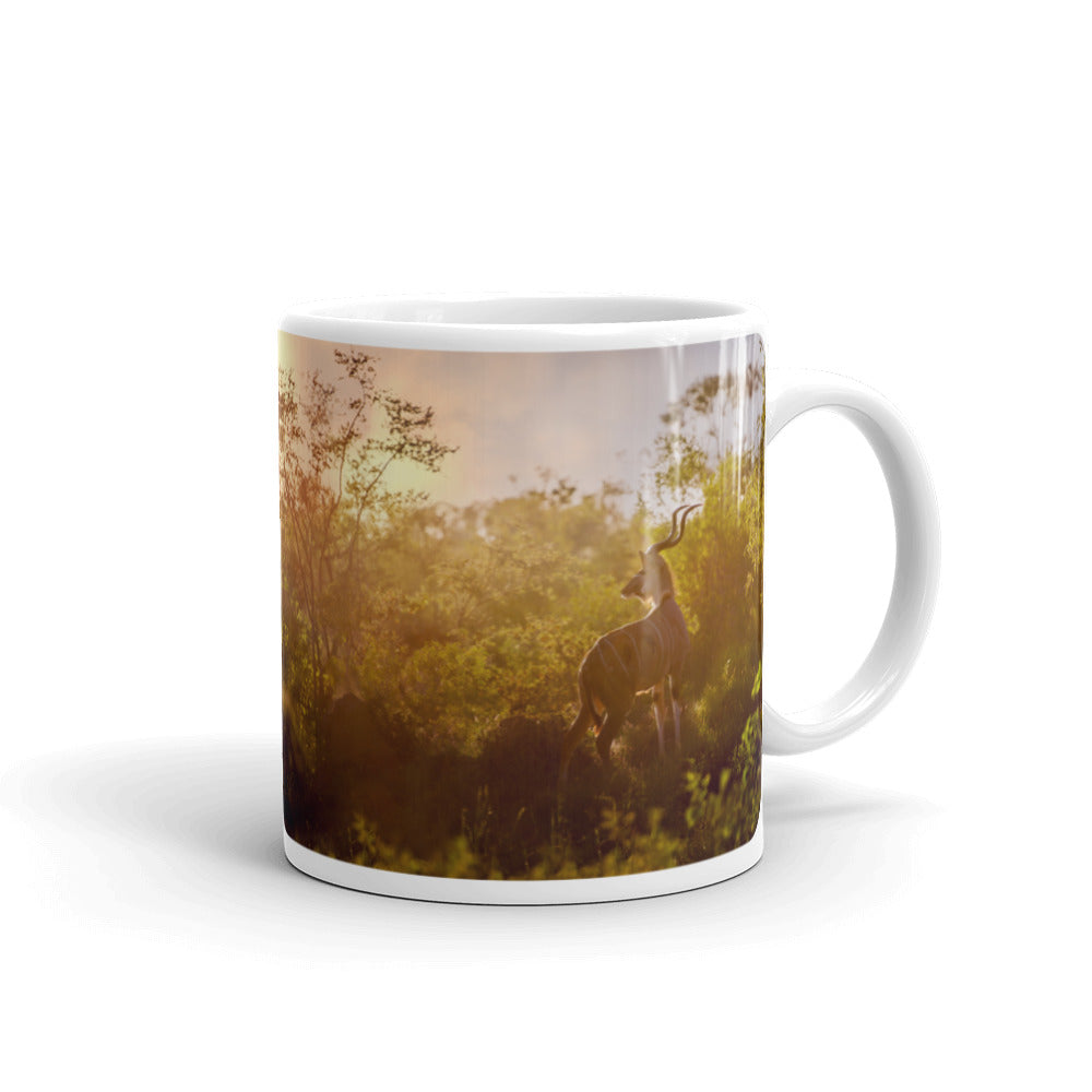 Sunset Kudu Photo Coffee Mug