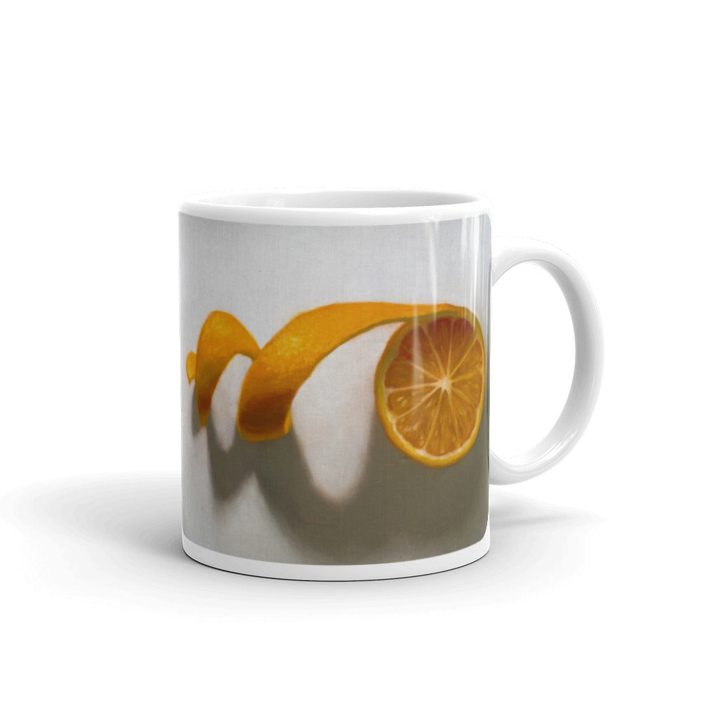 Unwinding Orange Painting Coffee Mug