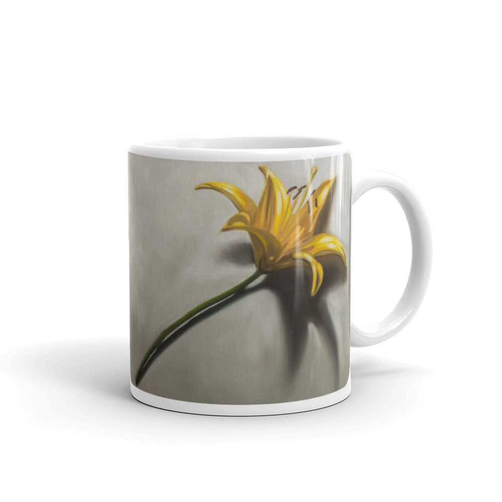 Yellow Lily Painting Coffee Mug