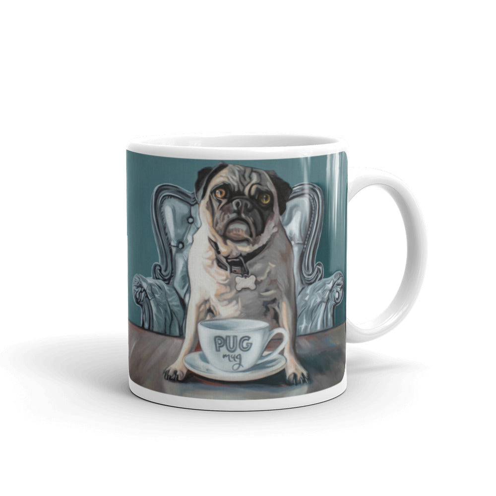 Pug and Mug Painting Coffee Mug