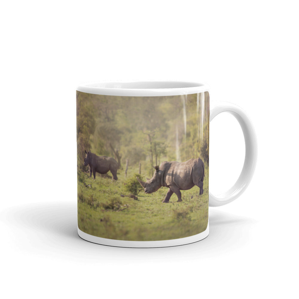 White Rhinoceros Photo Coffee Mug