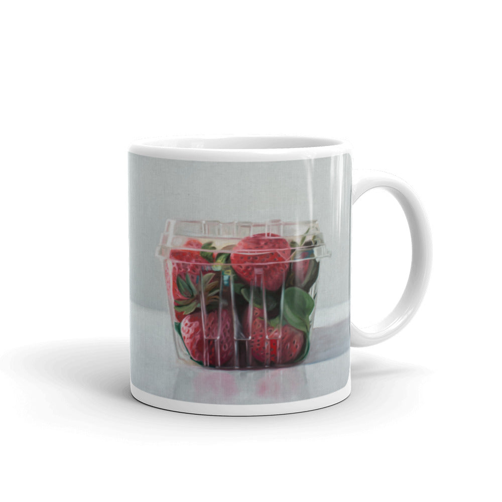 Strawberry Basket Painting Coffee Mug