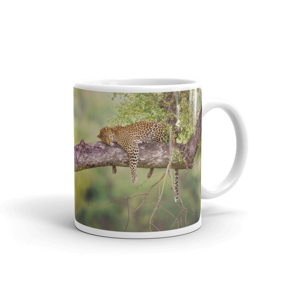 Sleeping Leopard Coffee Mug