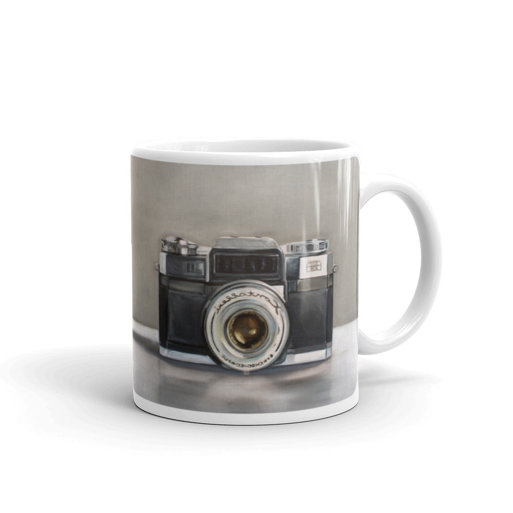 Vintage Camera Painting Coffee Mug